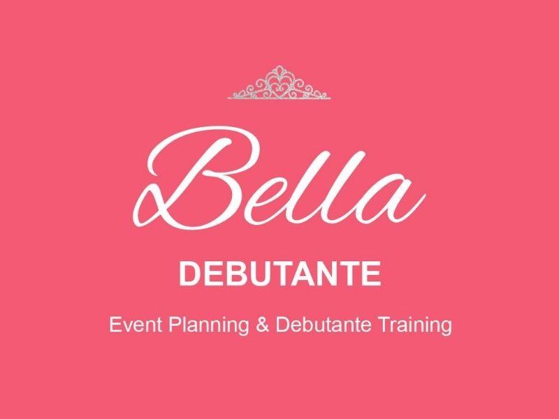 Bella Debutante Logo on pink background